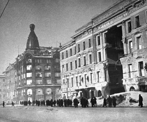 Дом Книги.Годы блокады Ленинграда.
