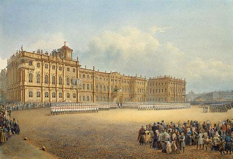 Вид Зимнего дворца со стороны Адмиралтейства