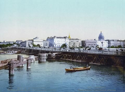 Дворцовый мост в начале ХХ века