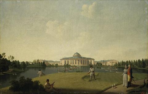 Вид Таврического сада в Санкт-Петербурге, 1797