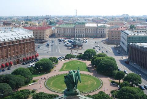 Панорама Петербурга. Вид с колоннады Исаакиевского собора