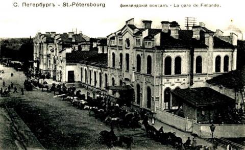 Финляндский вокзал. Фотография начала XX века