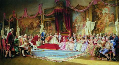 «Инаугурация Императорской Академии художеств 7 июля 1765 года», В. Якоби