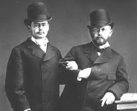 Котек и Чайковский в 1877 г.