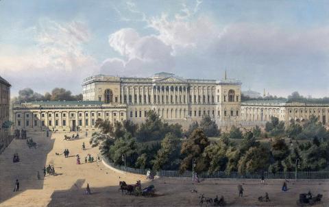 Михайловская площадь в XIX веке