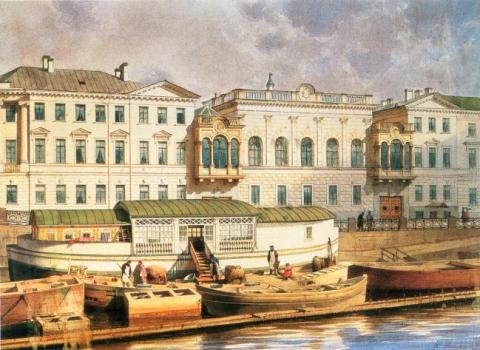 Дворец Шуваловых фасад вдоль Фонтанки