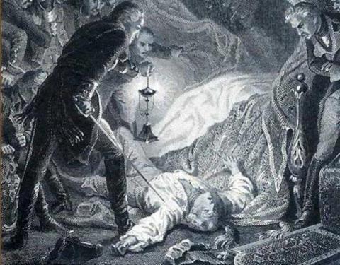 Смерть Павла I. Гравюра
